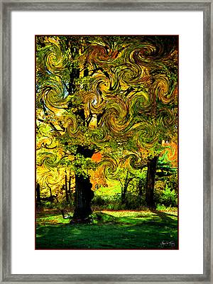 Autumn Firestorm Framed Print