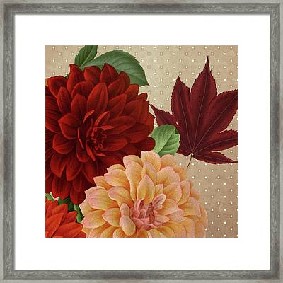 Autumn Flare Square 2 Framed Print by Gail Fraser