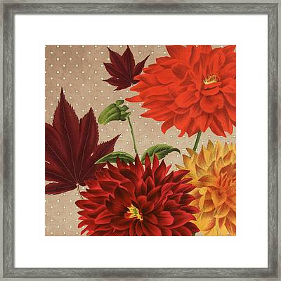 Autumn Flare Square 3 Framed Print by Gail Fraser
