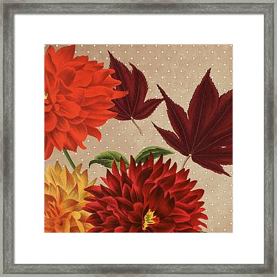 Autumn Flare Square 4 Framed Print by Gail Fraser