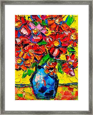 Autumn Flowers 7 Framed Print by Ana Maria Edulescu