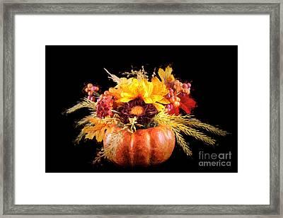 Autumn Flowers Framed Print by Darren Fisher