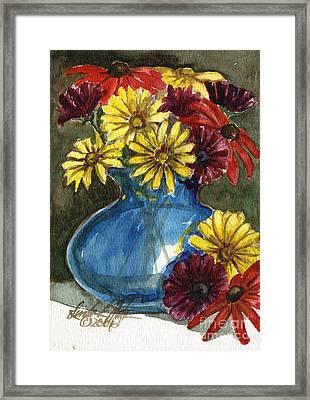 Autumn Flowers Framed Print