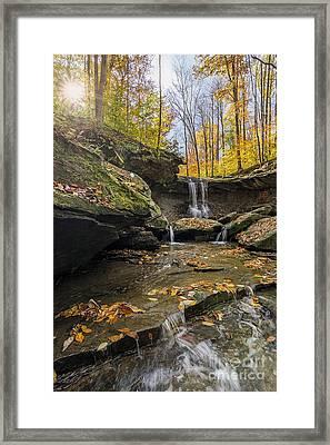 Autumn Flows Framed Print by James Dean