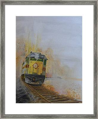 Autumn Fog Framed Print by Christopher Jenkins