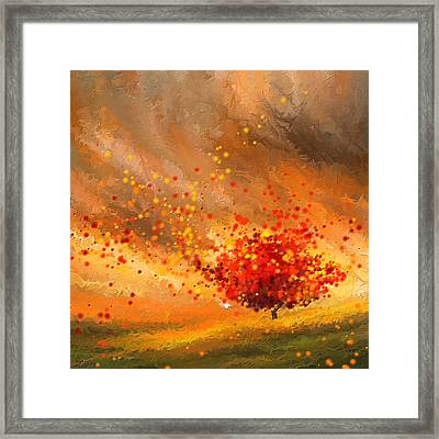 Autumn-four Seasons- Four Seasons Art Framed Print by Lourry Legarde