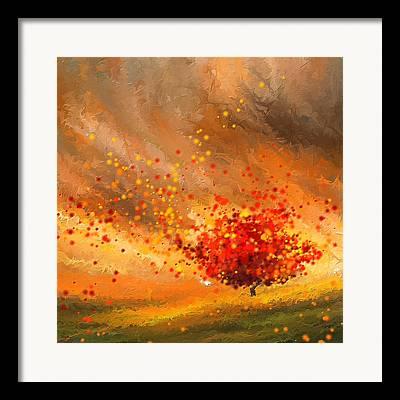 Lone Tree Paintings Framed Prints