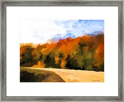 Autumn Fringe Framed Print by Jo-Anne Gazo-McKim