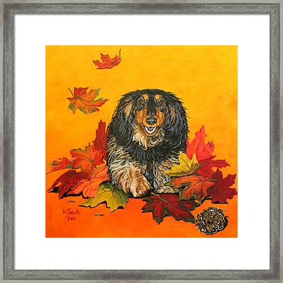 Framed Print featuring the painting Autumn Fun by Wendy Shoults