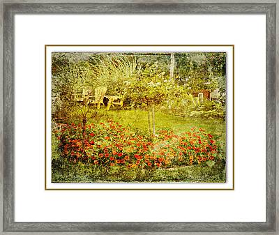 Autumn Garden Framed Print by Dianne  Lacourciere