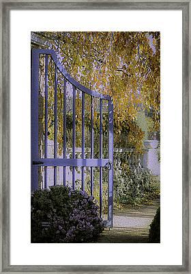 Autumn Garden Framed Print by Julie Palencia