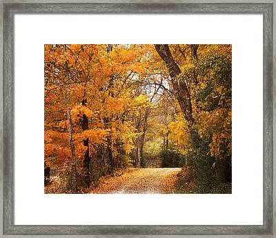 Autumn Gate Framed Print