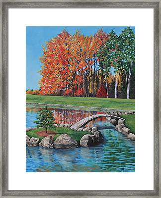 Autumn Glory At The Arboretum Framed Print