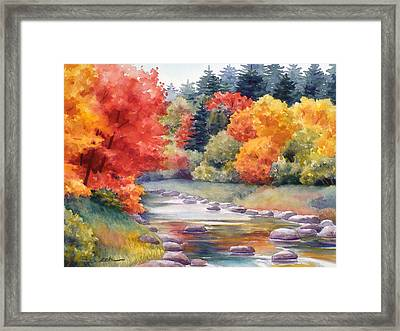 Autumn Glory Framed Print by Janet  Zeh
