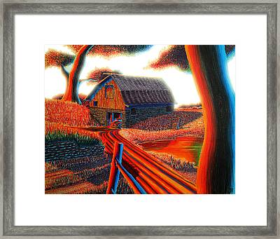 Autumn Glow Framed Print by Aaron Myerly