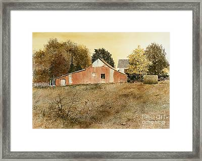 Autumn Glow Framed Print by Monte Toon