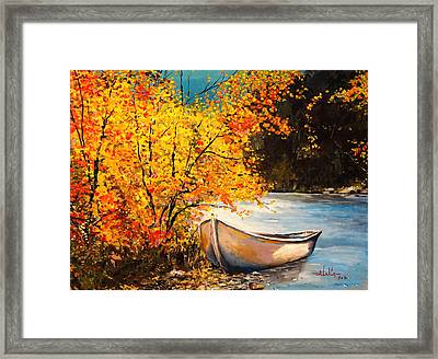 Autumn Gold Framed Print by Alan Lakin
