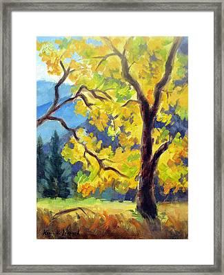 Autumn Gold Yosemite Valley Framed Print by Karin  Leonard