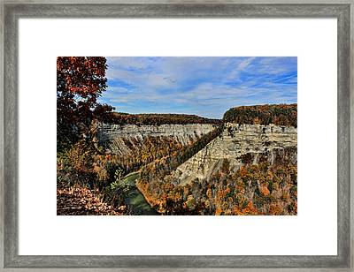 Autumn Gorge Framed Print