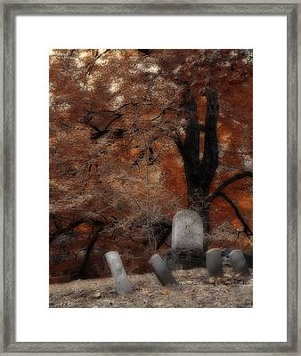 Autumn Graveyard Framed Print by Gothicrow Images