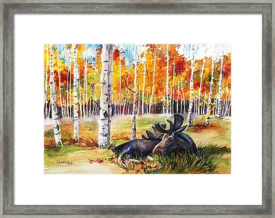 Autumn Grazing Framed Print By Renae Hill