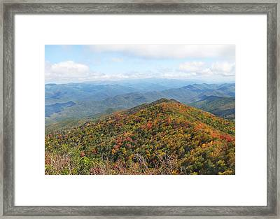 Autumn Great Smoky Mountains Framed Print by Melinda Fawver