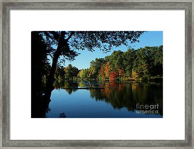 Autumn Grotto Framed Print by Kenny Glotfelty