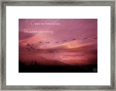 Autumn Haiku Framed Print
