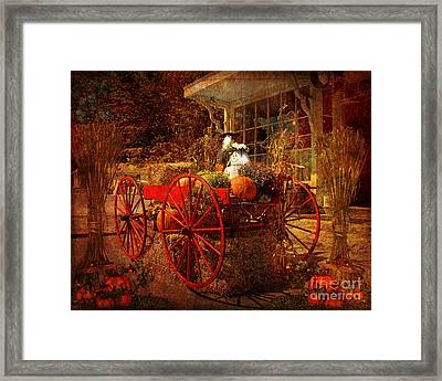Autumn Harvest At Brewster General Framed Print by Lianne Schneider