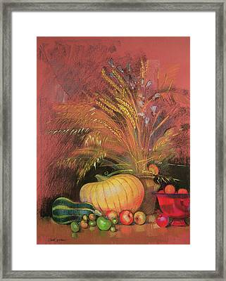 Autumn Harvest Framed Print by Claire Spencer