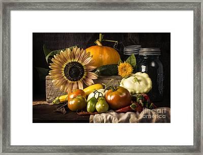 Autumn Harvest Framed Print by Edward Fielding