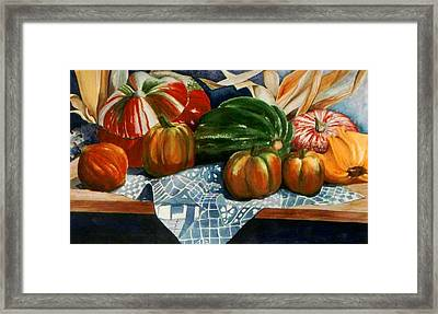 Autumn Harvest Framed Print by Eve Riser Roberts