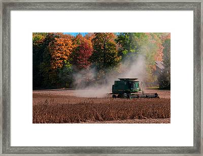 Autumn Harvest Framed Print by Gene Sherrill