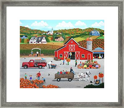 Autumn Harvest Framed Print by Wilfrido Limvalencia