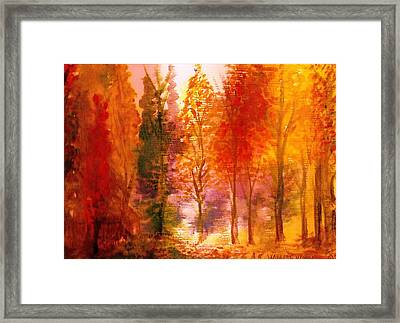 Autumn Hideaway Revisited Framed Print by Anne-Elizabeth Whiteway