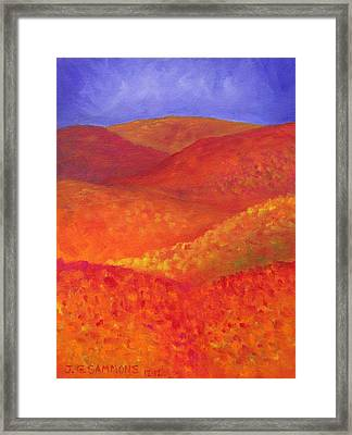 Autumn Hills Framed Print