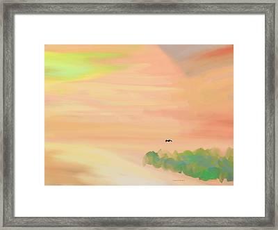 Autumn Hills Framed Print by Lenore Senior