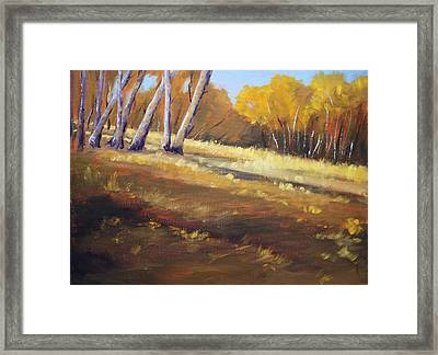 Autumn Hillside Landscape Framed Print by Nancy Merkle