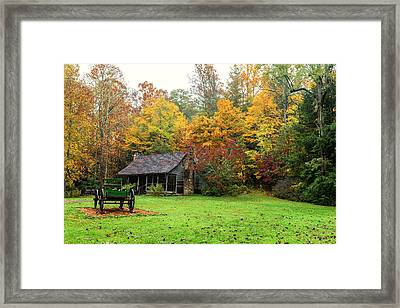 Autumn Home Framed Print by Andres Leon