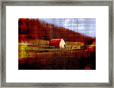 Autumn Homestead Framed Print