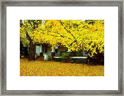 Framed Print featuring the photograph Autumn Homestead by Rodney Lee Williams