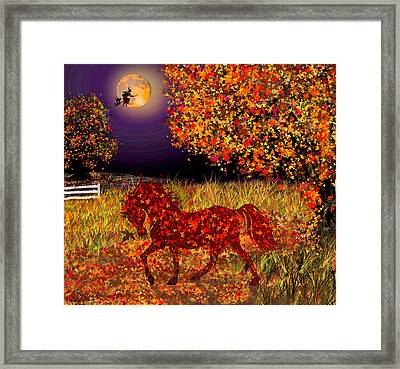 Autumn Horse Bewitched Framed Print
