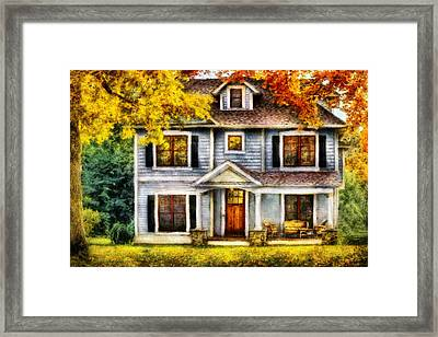 Autumn - House - Cottage  Framed Print