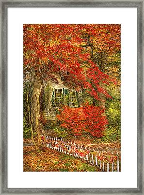 Autumn - House - Festive - Van Gogh Framed Print by Mike Savad