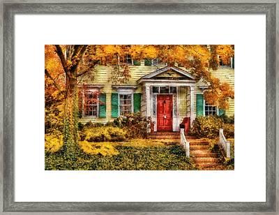 Autumn - House - Local Suburbia Framed Print by Mike Savad