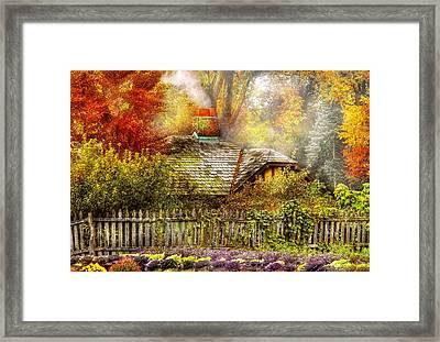 Autumn - House - On The Way To Grandma's House Framed Print by Mike Savad