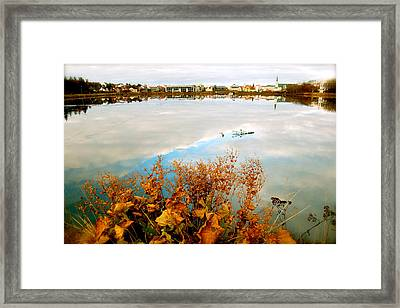 Autumn Ice Framed Print