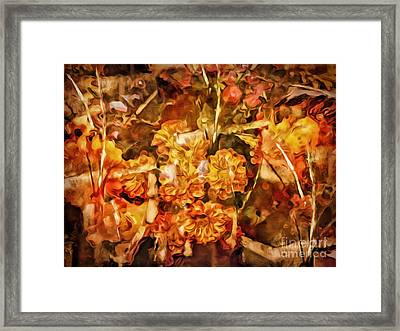 Autumn Impression Abstract Framed Print by Lutz Baar