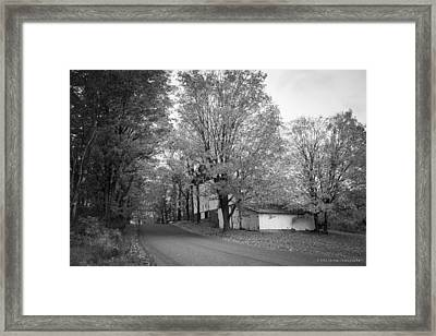 Framed Print featuring the photograph Autumn In Black And White by Phil Abrams