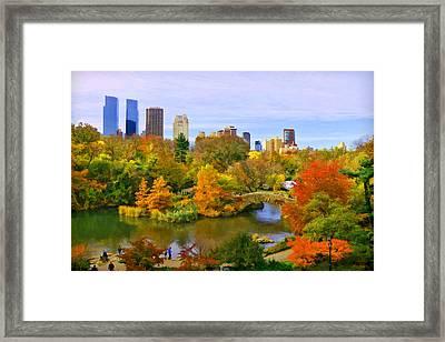 Autumn In Central Park 4 Framed Print